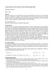 Average elasticity in the framework of the fixed effects logit model ...