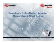 Broadcom Robo-Switch Adapter Board Quick Start Guide - Avnet