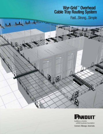 wyr grid overhead cable tray routing system panduit rh yumpu com Panduit Sizes panduit wire duct fill calculator