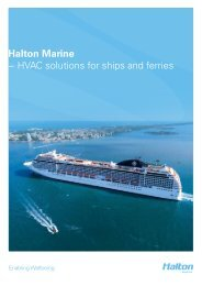 HVAC products for Cruise and Ferries - Haltonmarine