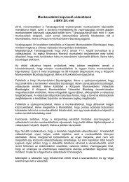 Munkavédelmi képviselő választások a BKV Zrt.-nél