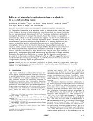 Influence of atmospheric nutrients on primary productivity in a ...