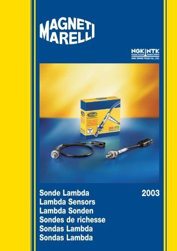 Sonde Lambda Lambda Sensors Lambda Sonden ... - Calibra Classic