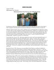 Mariemont Inducts Four Into 2009 Hall of Fame (info)