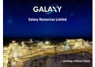 Corporate Presentation - Galaxy Resources
