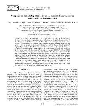 Compositional and lithological diversity among brecciated lunar ...