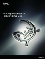 HP xw8400 Workstation Hardware Setup Guide - Autodesk
