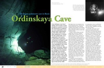 Ordinskaya Cave - X-Ray Magazine