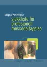 Sjekkliste for messedeltagere - Norges Varemesse