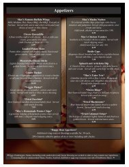 View our menu - Phoenix Greyhound Park