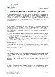 Regulations - Universities New Zealand - Te Pōkai Tara