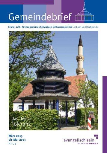 Gemeindebrief - Schwabach-Gethsemanekirche