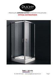 premium corner entry shower enclosure fitting ... - Heat and Plumb