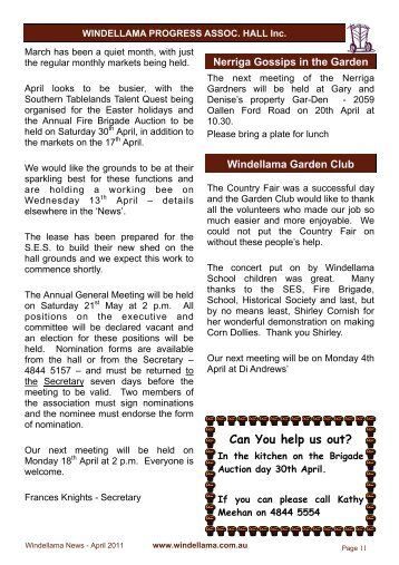 Pages 11-20 - Windellama Community Website