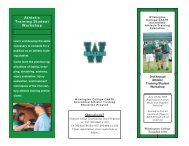 Athletic Training Student Workshop Questions? - Wilmington College
