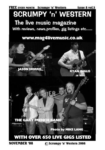with over 650 live gigs listed - Mag 4 Live Music