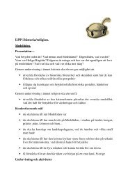 LPP i historia/religion. - upplevelseriket