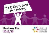 Business Plan 2012/13 - Children's Hearings Scotland