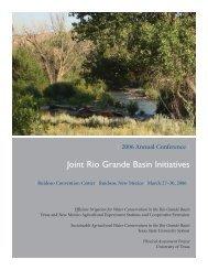 Joint Rio Grande Basin Initiatives - 2013 Rio Grande Basin Initiative ...
