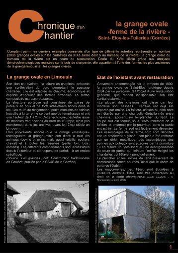 La grange ovale en Limousin la grange ovale