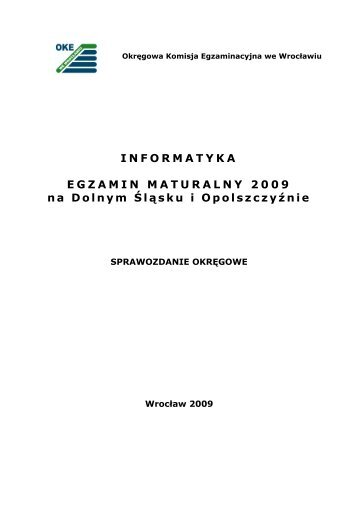 Informatyka - Okręgowa Komisja Egzaminacyjna