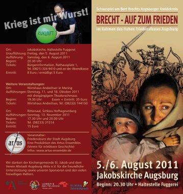 BRECHT - AUF ZUM FRIEDEN - pro augsburg