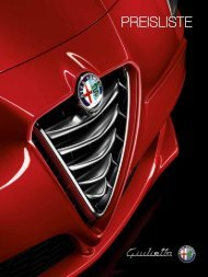 Preisliste Technische Daten Serien- und ... - Alfa Romeo