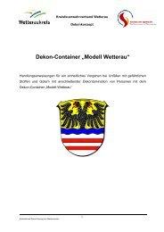 "Dekon-Container ""Modell Wetterau"" - KFV-Wetterau"