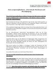 Nein zu Sparmaßnahmen - Einblick-archiv.dgb.de