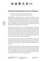 Alfa Romeo Doppelsieg beim Concorso d'Eleganza