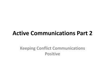Active Communications Part 2 - Center Video