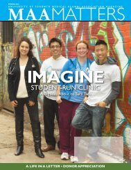 2012 Spring - University of Toronto Medical Alumni Association