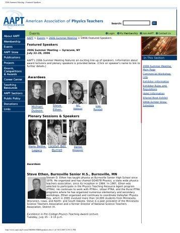 2006 Summer Meeting - Featured Speakers - Lisa Randall - Harvard ...