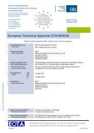 ETA-08/0230 - MKT Metall-Kunststoff-Technik GmbH & Co. KG