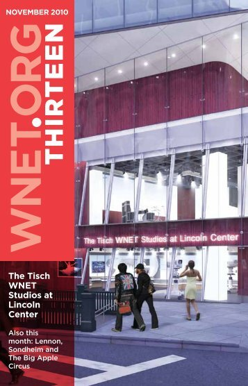 The Tisch WNET Studios at Lincoln Center - THIRTEEN Thank-You ...