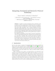 Integrating Automated and Interactive Protocol ... - AVANTSSAR