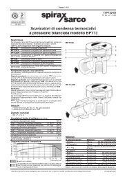 Scaricatori di condensa termostatici a pressione bilanciata modello ...