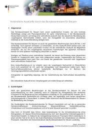 Verbindliche Auskunft - Bundeszentralamt für Steuern