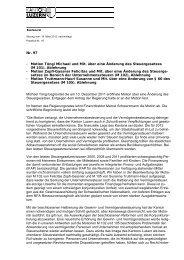 Protokoll Kantonsrat - Steuern Luzern - Kanton Luzern