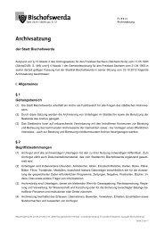 7/11/I - Archivsatzung - Bischofswerda