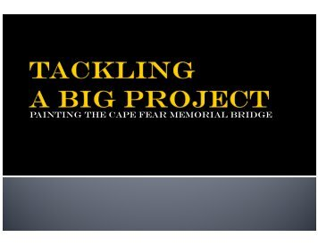 Painting the Cape Fear Memorial Bridge