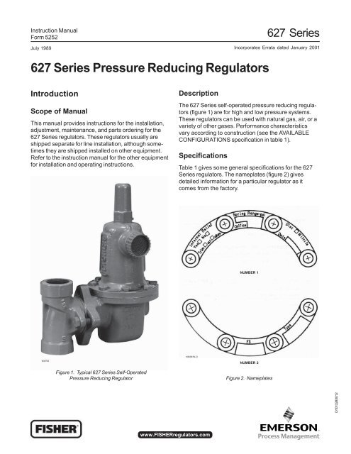 627 Pressure Reducing Regulator - Control Southern Inc
