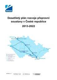Desetiletý plán rozvoje přepravní soustavy v České ... - Net4Gas