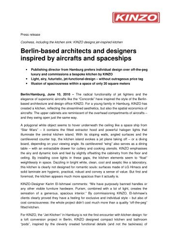 Berlin-based architects and designers inspired by ... - KINZO Berlin