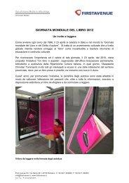 Download Comunicato Stampa - Firstavenue