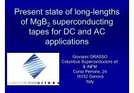 Present state of long-lengths of MgB superconducting tapes ... - AMT