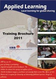 Brochure - International Institute of Rural Reconstruction