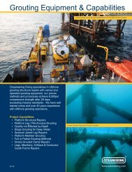 Grouting Equipment & Capabilities - Oceaneering