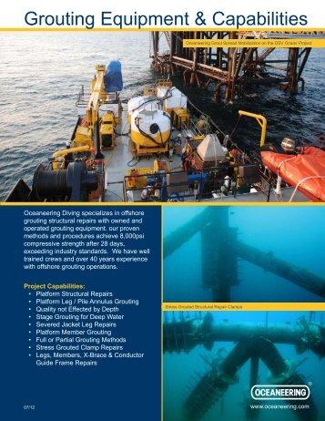 Grouting Equipment & Capabilities - Oceaneering