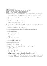 "Simplest Radical Form In the expression n √ b n is the ""index' and b ..."